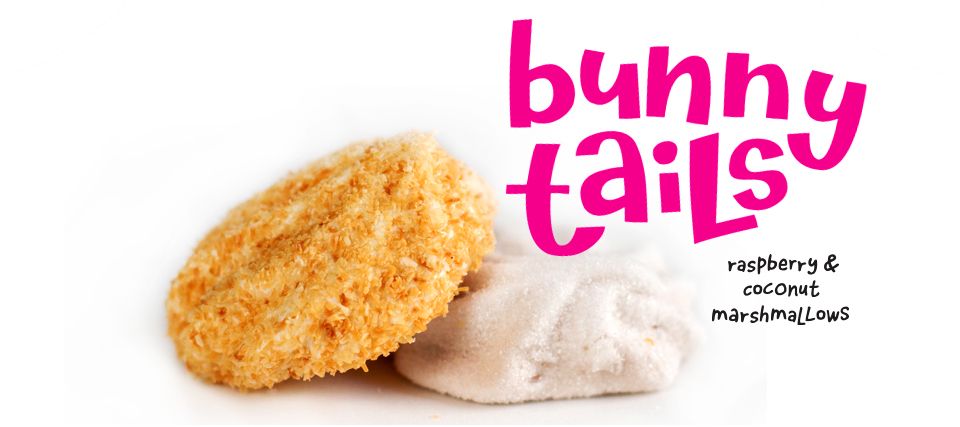 Bunny Tails Marshmellow Candy with Raspberry and Coconut